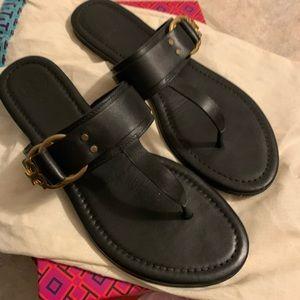 Tori Burch Marsden Thong Sandal Black Sz 8.5